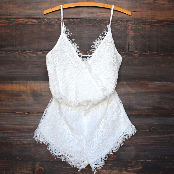 8de35736f356 This lace romper from Shop Hearts is just the cutest. Beautifully tailored
