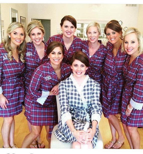 flannel bridal robe