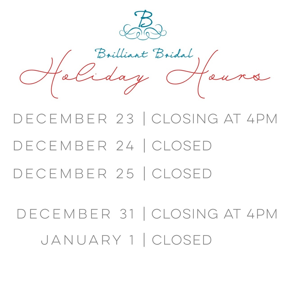 Bridal store hours
