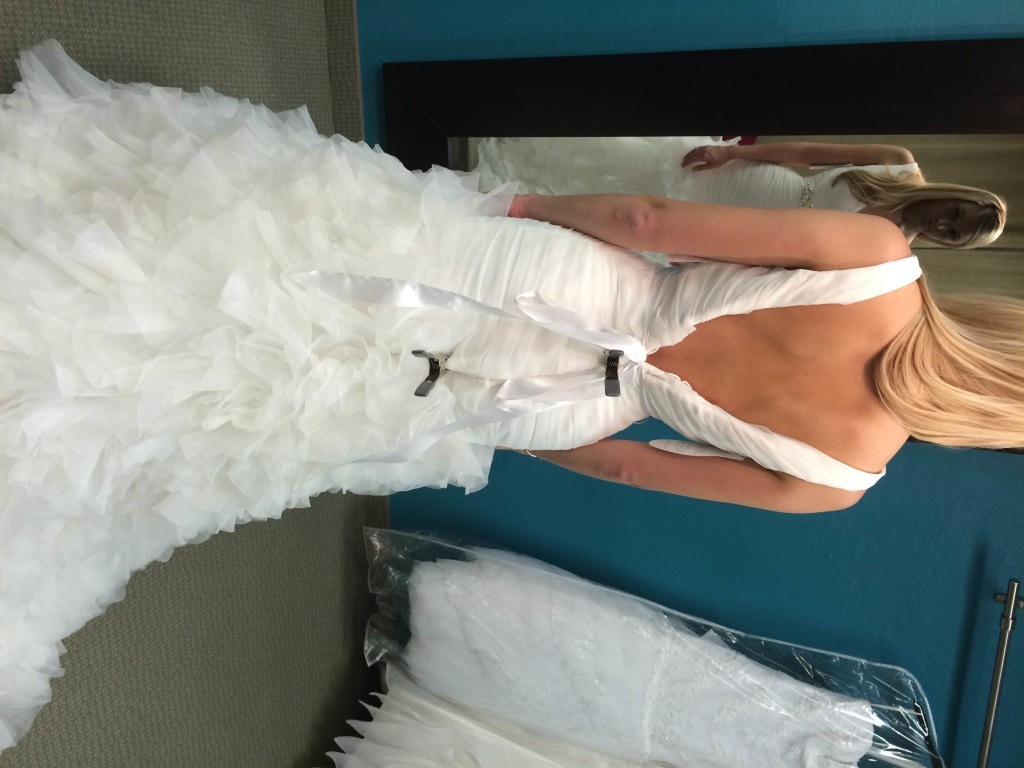 bridal gown before