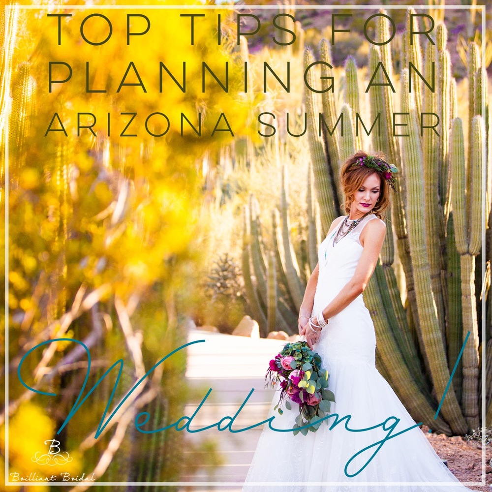 planning an arizona summer wedding