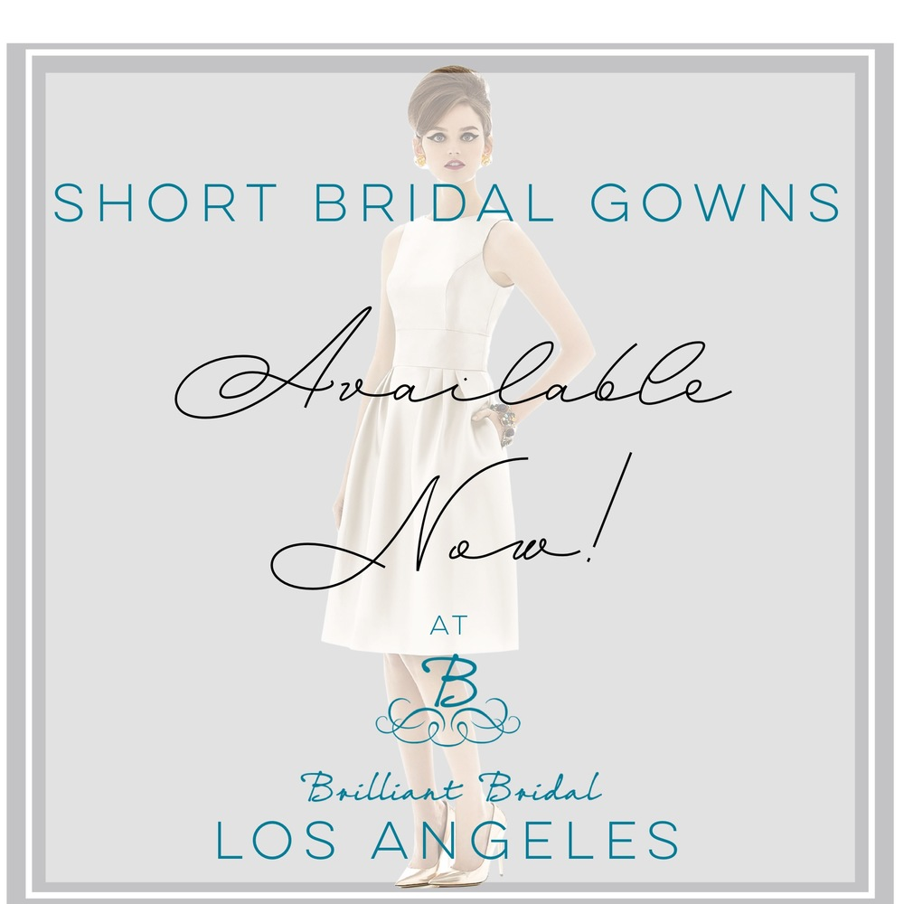 short bridal gowns