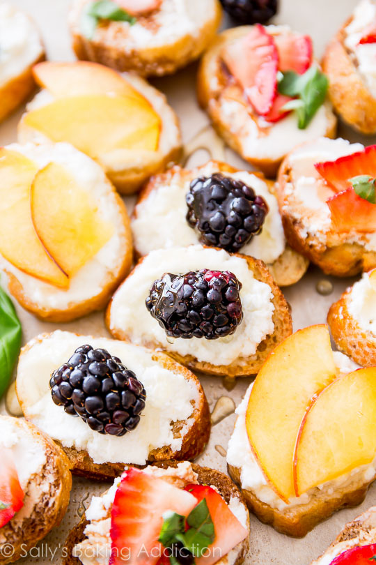 Summer wedding appetizers brilliant bridal the fresh fruit screams summer while the goat cheese pulls all the flavors together the appetizer is so simple to make junglespirit Gallery