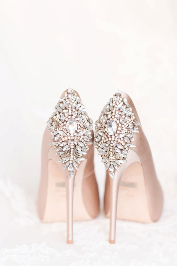 Lets talk wedding shoes brilliant bridal her shoes may be an off white color or include jeweled embellishments the chic bride likes to keep it classic but isnt afraid to step slightly out of the junglespirit Image collections