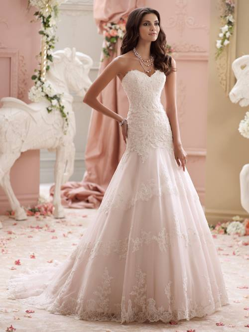 David Tutera  115249 Color: IV TEAROSE Size: 6    Retail Price: $1,573 Our Price: $1,101  Denver Location