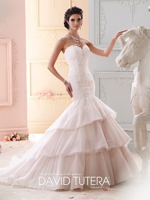 David Tutera  215262 Color: IV TEAROSE Size 6   Retail Price: $1,348 Our Price: $944  Las Vegas Location