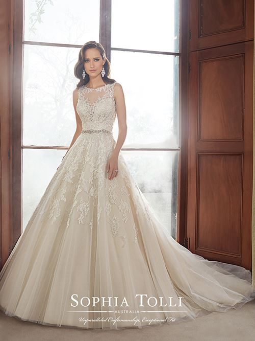 Sophia Tolli Y21520 Color: Ivory Size: 6  Retail Price: $2,023 Our Price: $1,416 East Valley Location