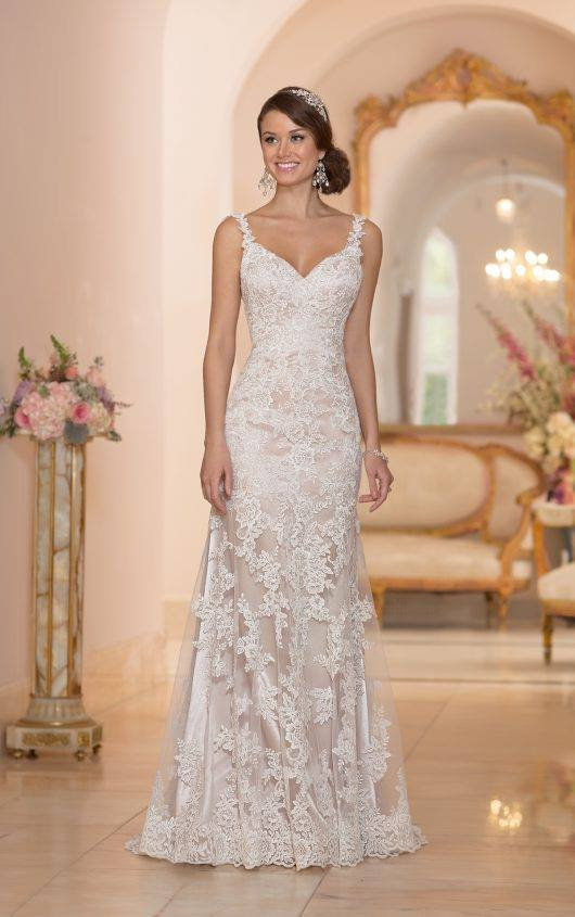 Stella York 5984 Size 10 Ivory/Cafe Retail Price $1022 Our Price $715