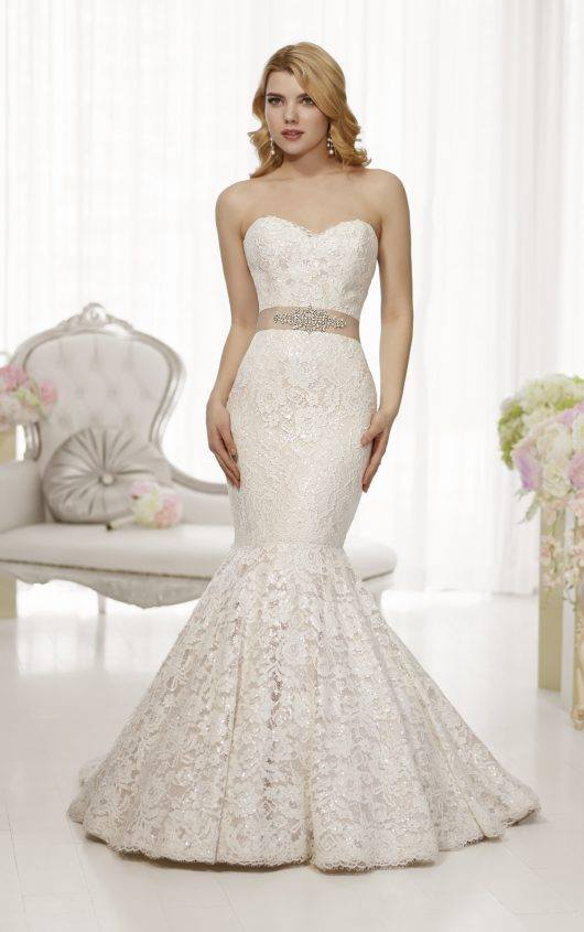 Essense of Australia D1521 Size 12 Ivory/Champagne Retail Price $1942 Our Price $1359 Phoenix Store
