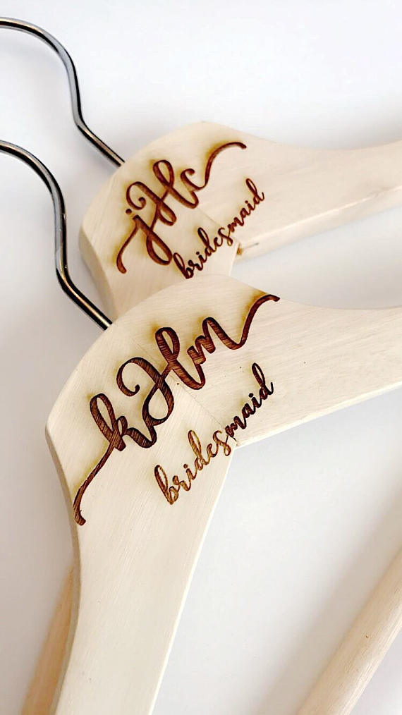 Custom engraved wood hanger from deco ink designs $10.00
