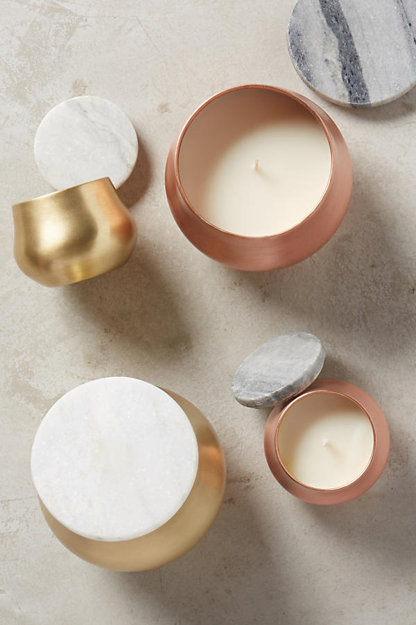 Burnished candle from anthropologie $18.00