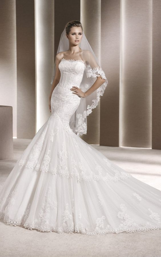 f484760fdcd La Sposa By PRONOVIAS Evangeline Off White Size 16 Retail Price  1850