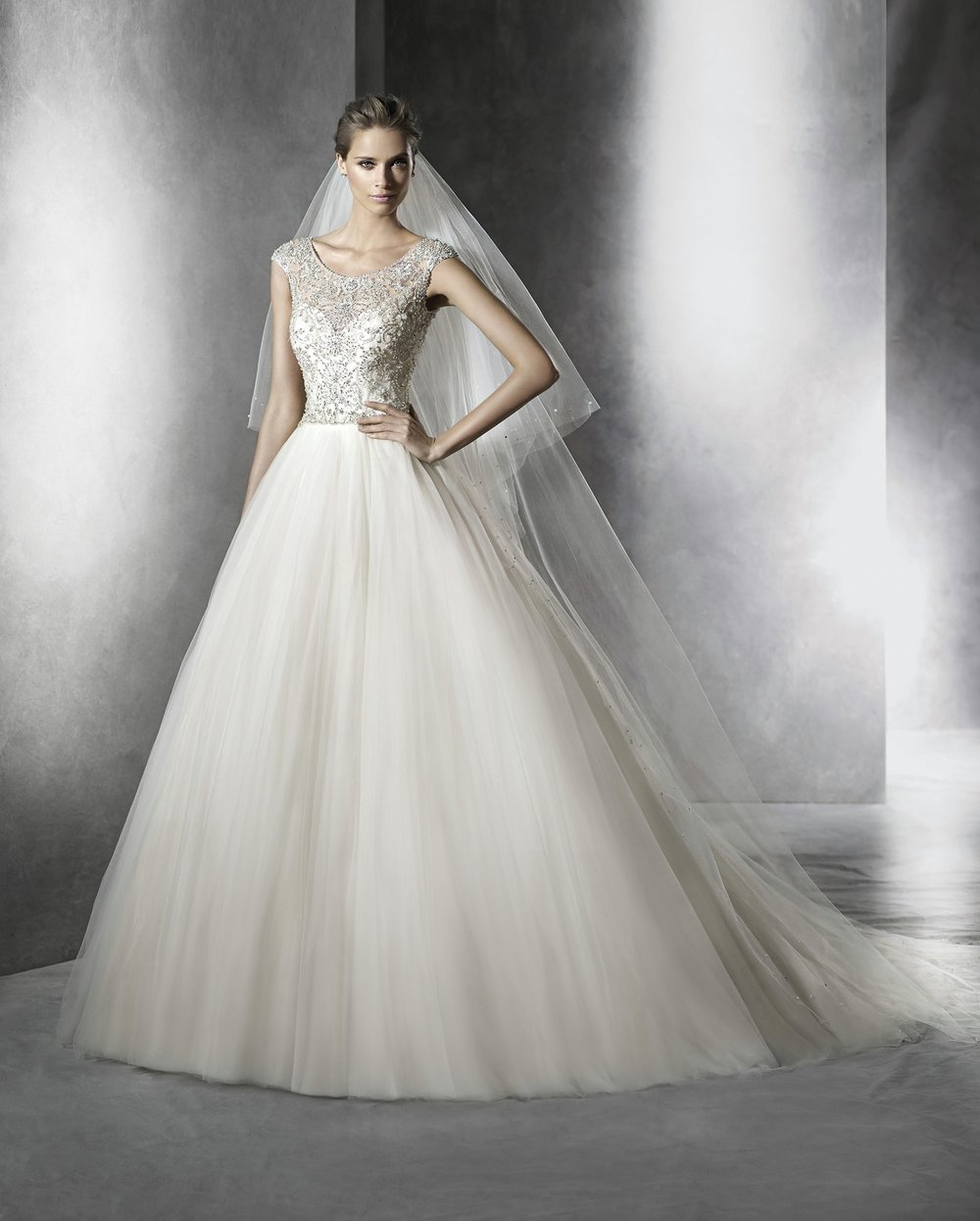 f6ea2b8387e Pronovias Prismal Size 12 Peach Retail Price  3850