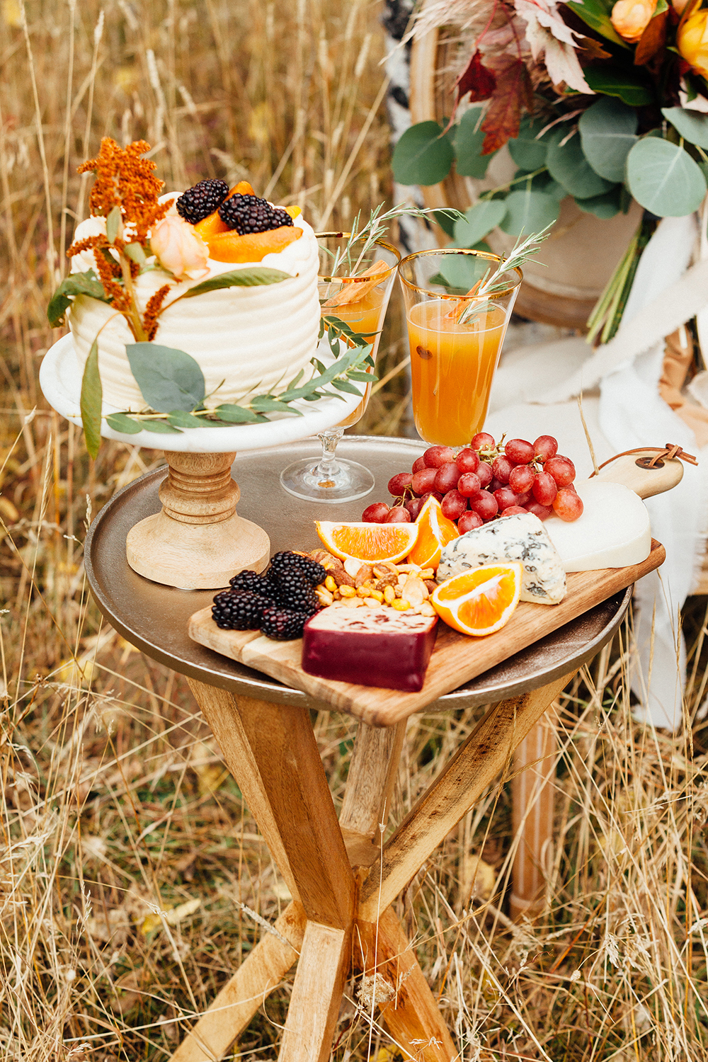fall wedding grazing table