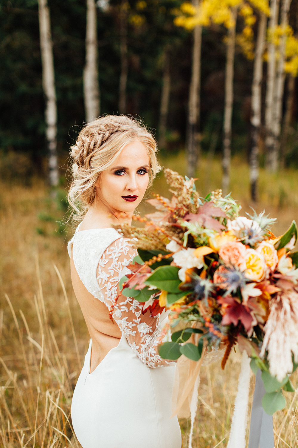 fall wedding bridal bouquet