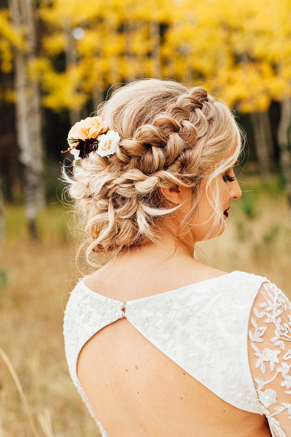 bridal hair braid