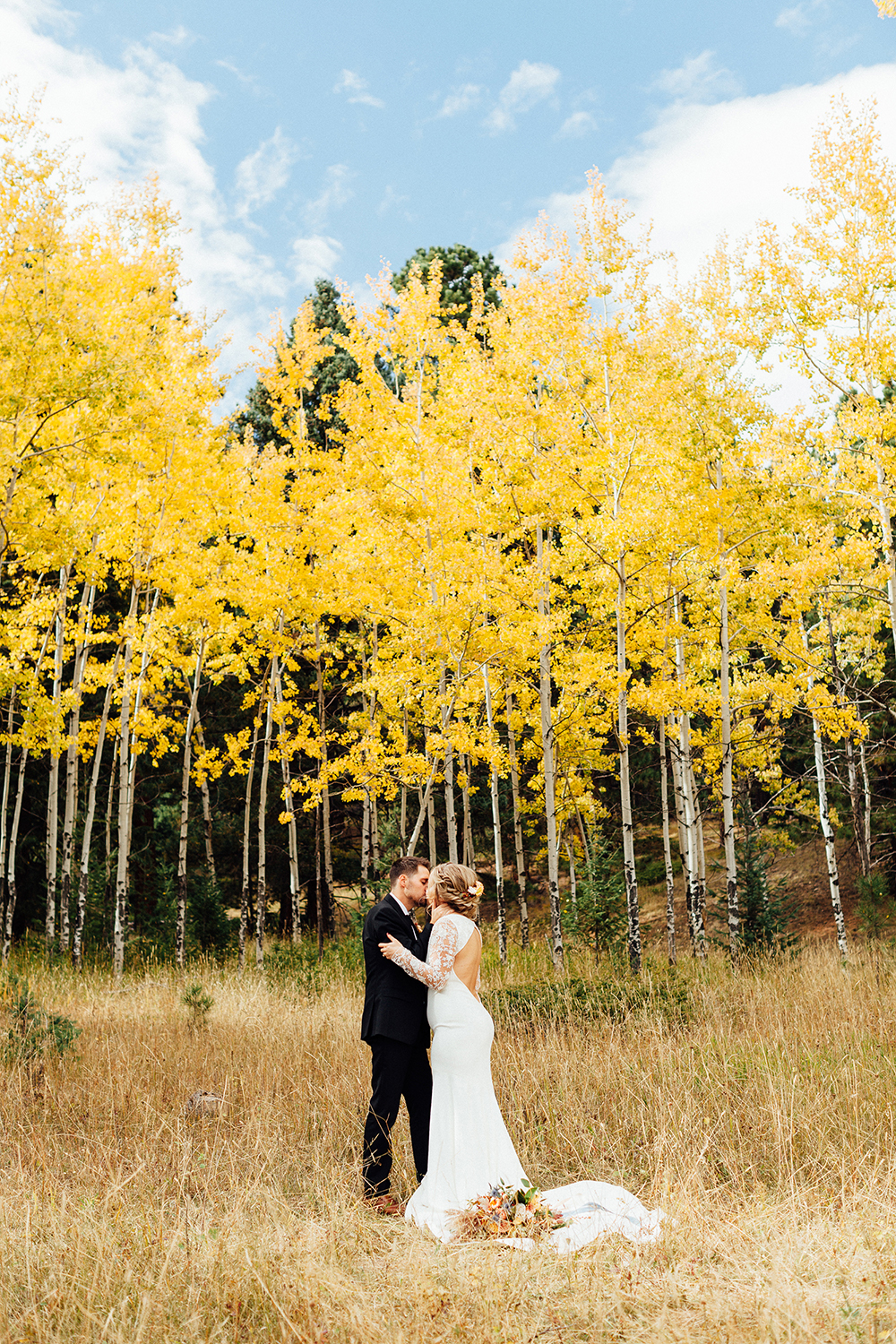 mountain fall wedding
