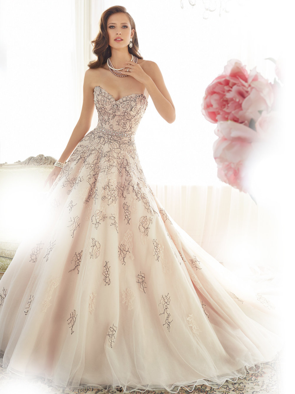 sophia tolli Vintage Rose/Blk Retail Price $1998 | Message for price