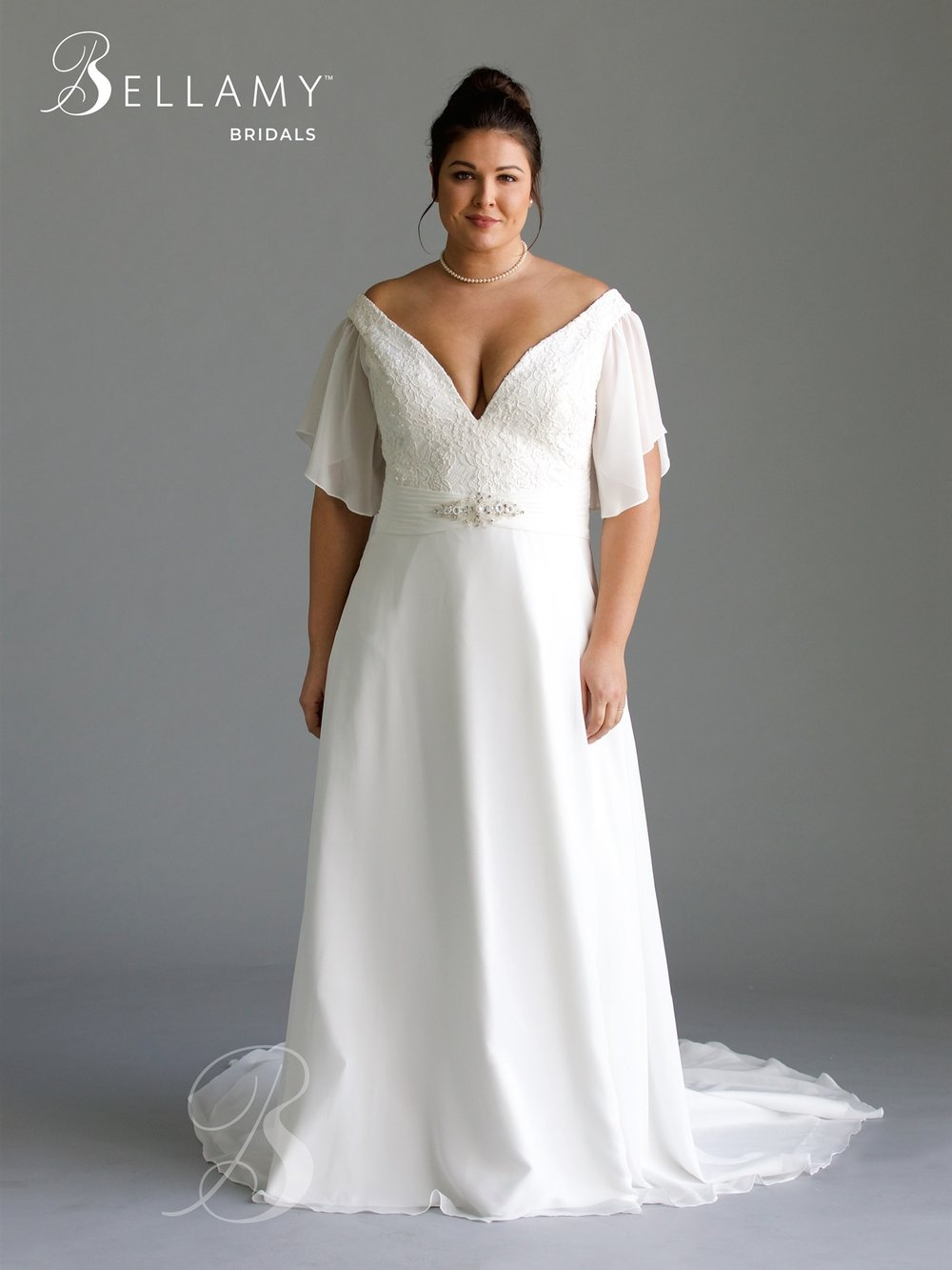 Flowy Plus Size Dress at Brilliant Bridal