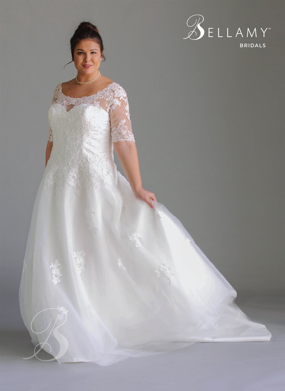 Lace Plus Size Bridal Dress at Brilliant Bridal
