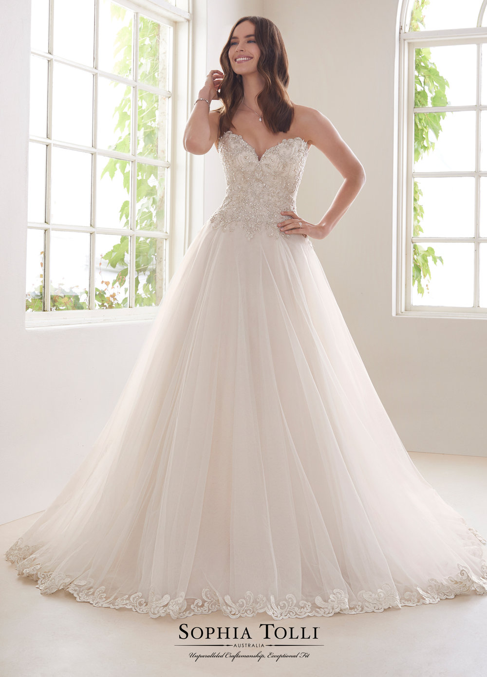 Mon Cheri Y21816 Blush/Ivory // CONTACT Us For Price