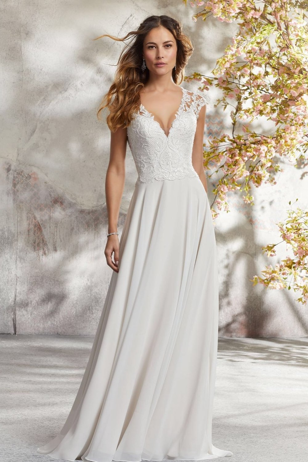 Mori Lee 5694 Ivory Champagne // Retail Price $899| Our Price $629
