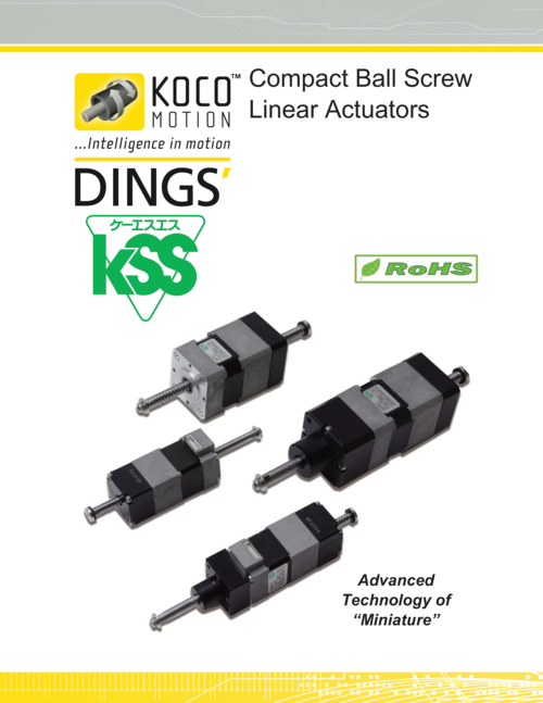 Compact Ball Screw Linear Actuators | Koco Motion — Koco Motion