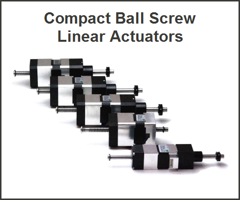 Compact Ball Screw Linear Actuators