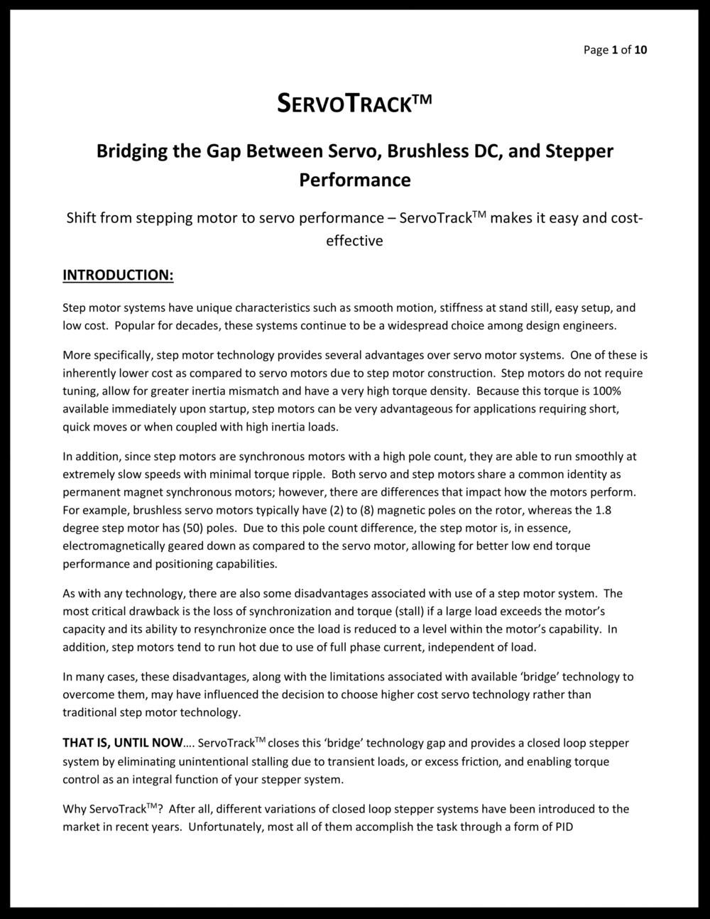 ServoTrack White Paper