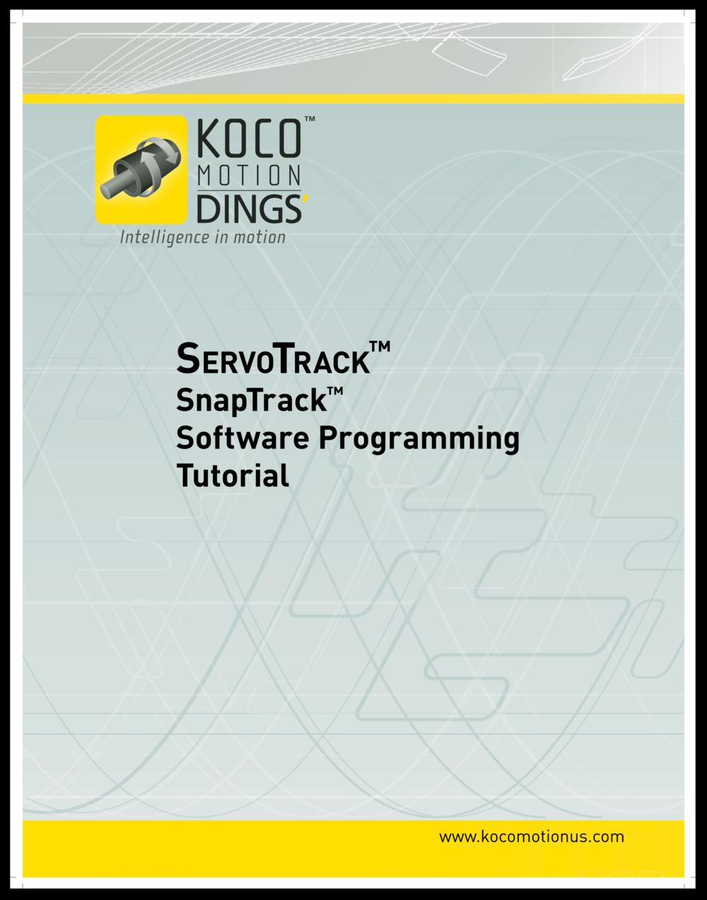 ServoTrack Programming Tutorial