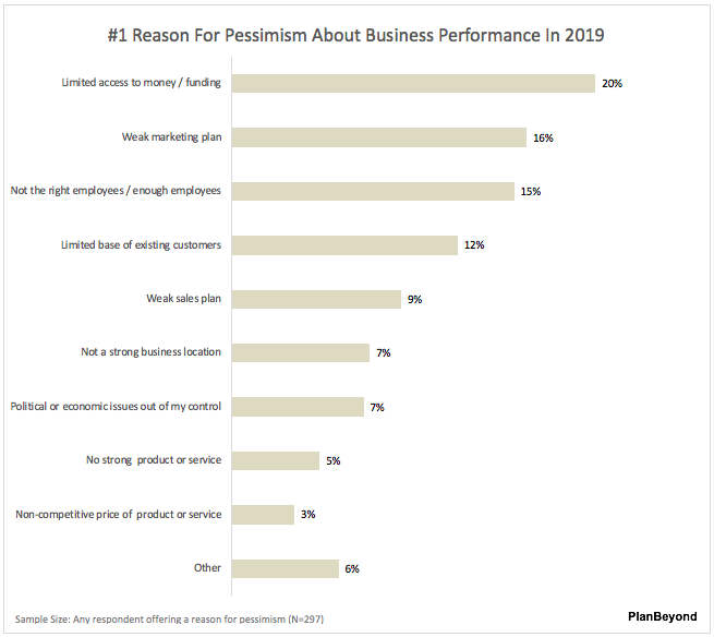 2019 SMB Business Owner Report #1 Reason for Pessimism