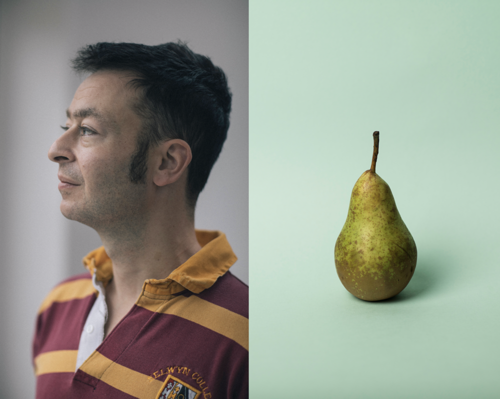 "Adam (left) (s) tumour was compared to the size of a pear: providing the appropriate title for his book: ""Pear Shaped""."