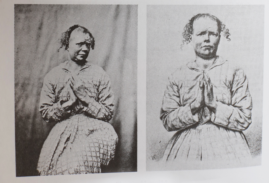 Figure 4    (Left) The original photograph, and (right) the engraved version