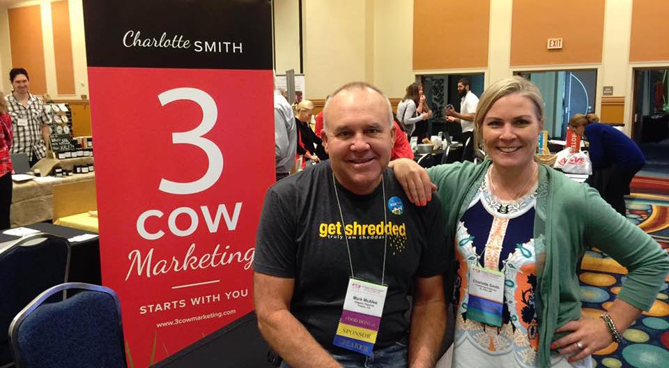Charlotte with Mark McAfee at the Raw Milk Symposium 2015
