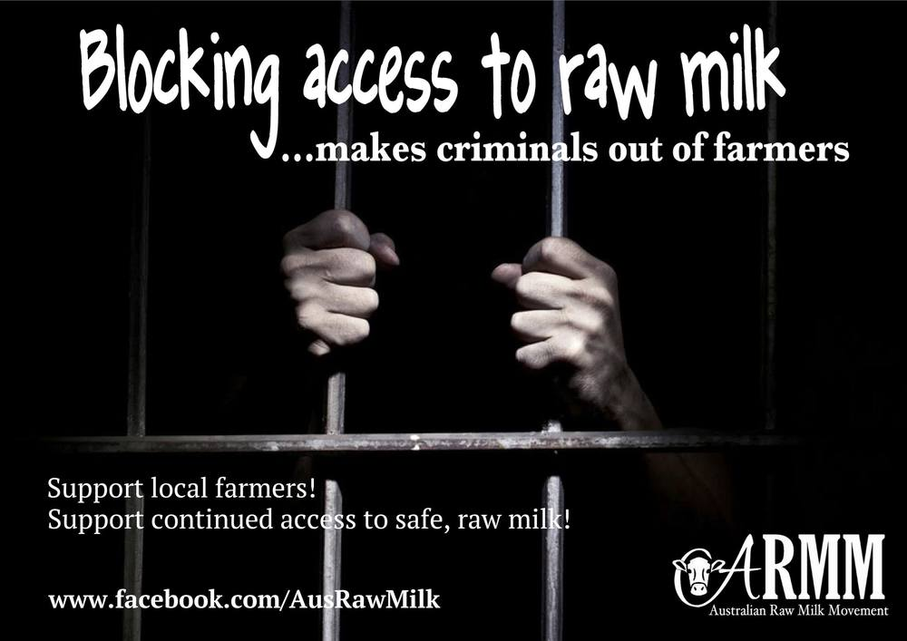 raw milk criminal farmers australia