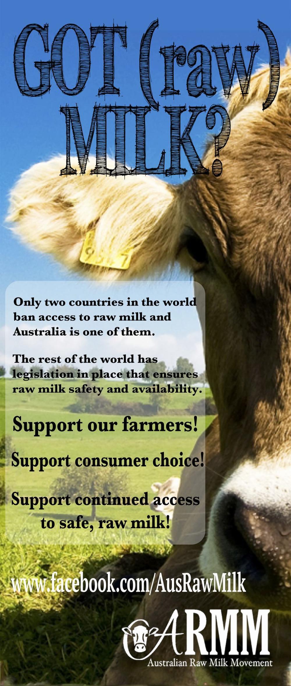 raw milk poster australia