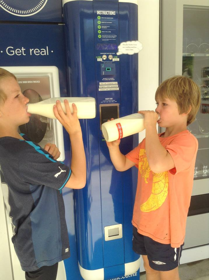 Photo:  A Village Milk vending machine, NZ