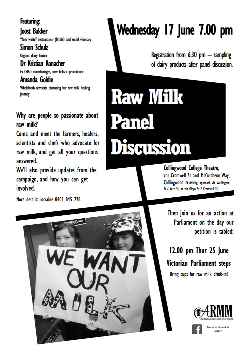 Raw Milk Panel Discussion Flyer