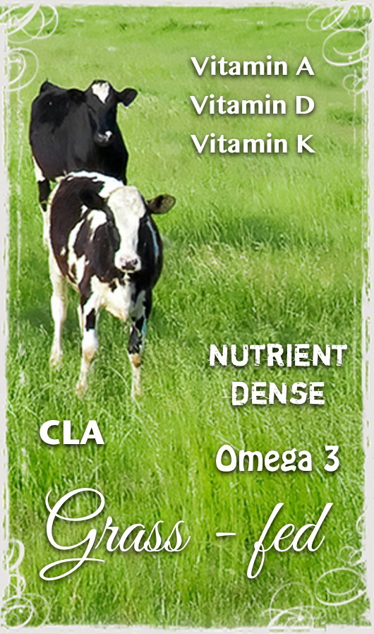 nutrient dense grass-fed raw milk