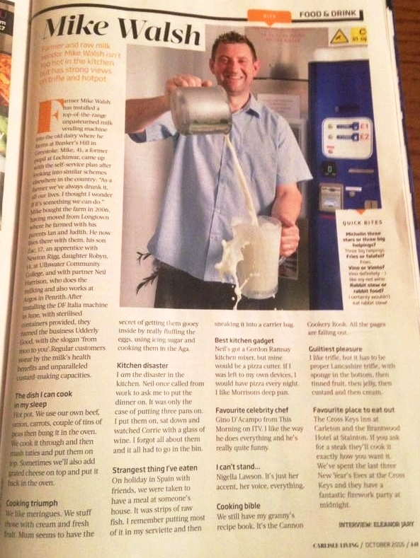 Image:   A Oct 2016 article from Carlisle Living.