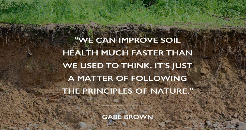 Gabe Brown regenerative farmer Quote