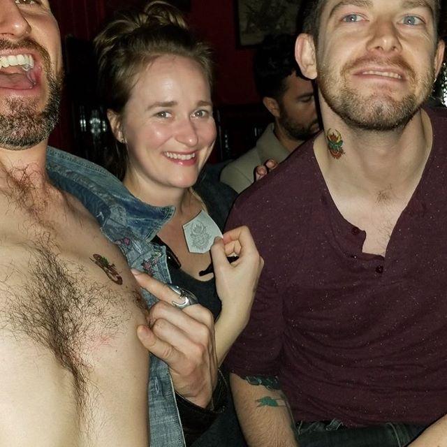 Bar tattoos. #tattoo #guitar #music #party #lfl #fuckyeah #friends
