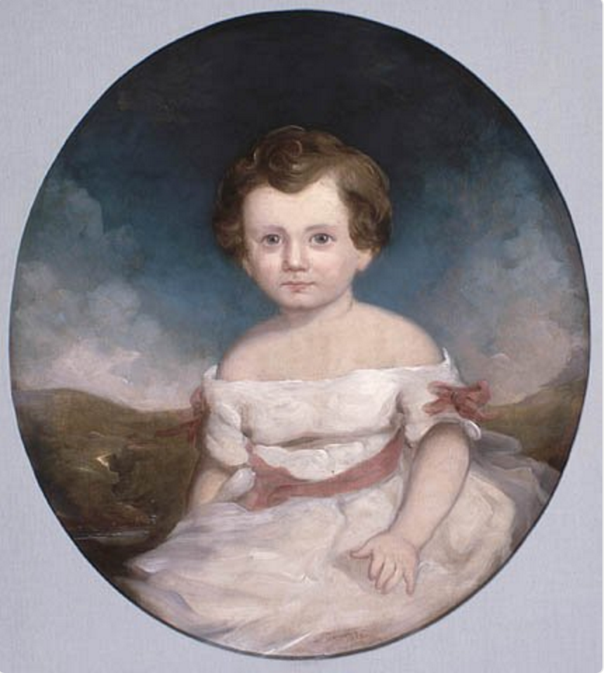 Hugh John as a baby, yes before cameras there were painted portraits. / DMVC Archives