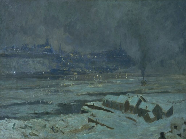 Winter Evening, Québec