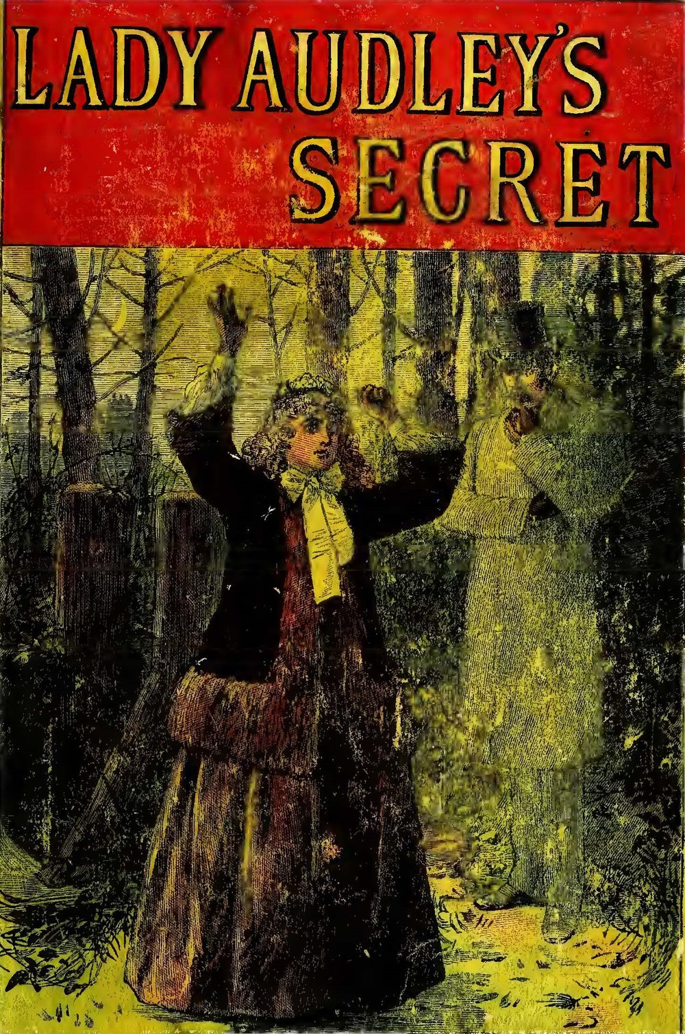 Yellowback cover of  Lady Audley's Secret  by Mary Elizabeth Braddon. Source: archive.org/details/36163849.2555.emory.edu