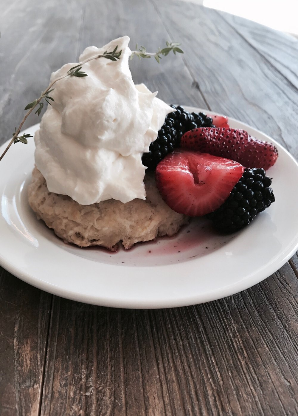 Berry Shortcake with that whipped cream perfection…great job!!