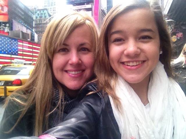 My mom and I in Time Square! (2014)