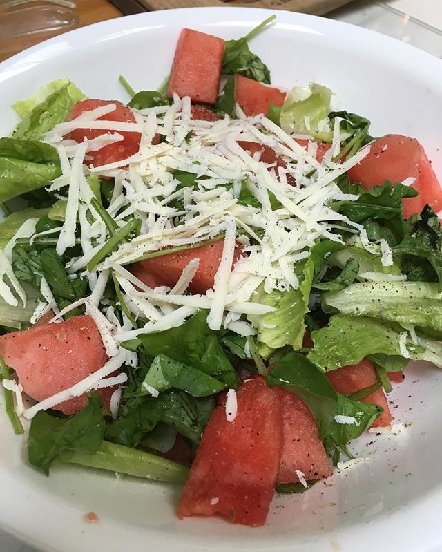 Watermelon season is ending..but our arugula is always fresh and local! Come check us out at Haddonfield Farmers Market until 1 pm today 🌱