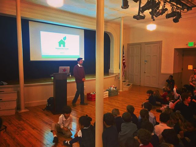 We had an amazing experience sharing our story of #fresh #local #entrepreneurship with the #students of St. Peter's School in #Philly! What a group of smart, curious and mannered kids - they even had their own #SharkTank ! The #nextgeneration is in good hands!  #hgf #homegrownfarms