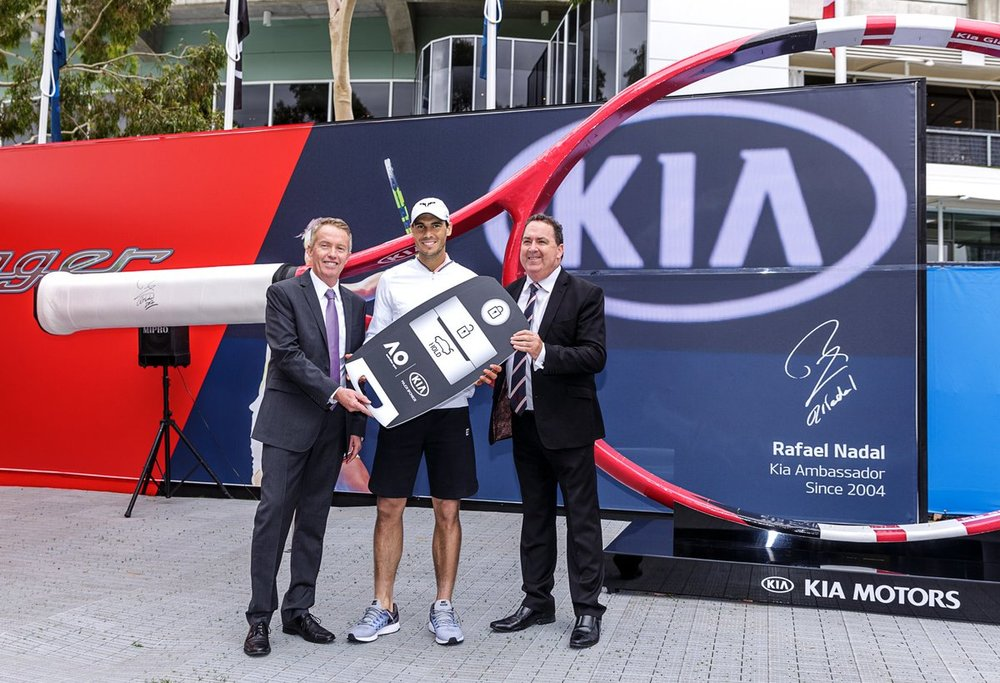 KIA MOTORS Australian open Tennis - Our brief was to create an exact replica of Rafael Nadal's tennis racquet for the Aus Open. The twist being it needed to be 3 metres tall.